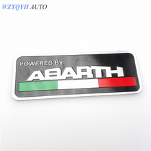 80*30mm abarth Labeling Car Aluminum Alloy Badge Sticker Emblem Decal car stickers For FIAT 500 Punto Stilo 124 125 695 OT2000