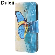 Dulcii for Huawei Y 5 (2017) Phone Cases Printing Leather Wallet Stand Mobile Casing for Huawei Y5 (2017) - Beautiful Butterfly