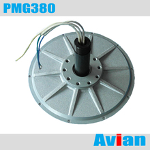 PMG380 1KW 180RPM Coreless permanent magnet generator three phase wind generator CE certificated(China)
