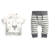 Clearance Sales Fashion Cotton Spring Unisex Baby Clothing Sets Children Boys Cute Suits Tops+Pants 2pcs Set Infant Girl Clothes