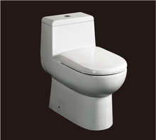 2017 hot sales water closet one-piece S-trap  ceramic toilets with PVC adaptor PP soft close seat AST351 UPC certificate