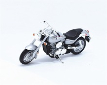 1:18 Welly Kawasaki 2002 VULCAN 1500 MEAN STREAK Motorcycle Bike Model New in Box Silver