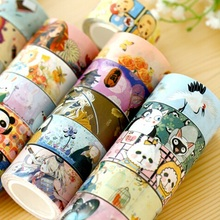 Hot sale sweet design good quality wholesale 7m   Japan  II series  paper tapeHigh quality Adhesive Tape .cute lovey school stat