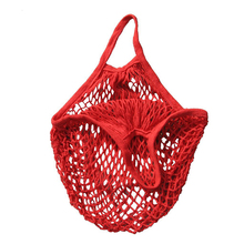 2016 Fashion Shopping Bag Women Designer Handbag Tote Foldable Reusable Shopping Grocery Bags Beach Mesh Bag (Red)