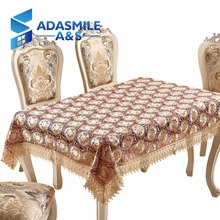 Adasmile Hot Sale Lace Embroidered Floral Polyester Table Topper Tablecloth Table Cover Overlays For Banqute Wedding Party(China)