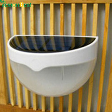 LED Solar Power Panel lights 6 LED Light Sensor Waterproof Outdoor Fence Garden Pathway Wall Lamp Lighting