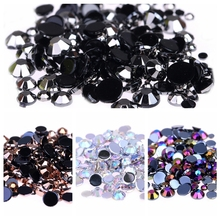 5mm 2000pcs AB Colors Nail Rhinestones for Shoes Clothing Decorations High Shine Sparkling DIY 3d Nail Decorations Supplies(China)