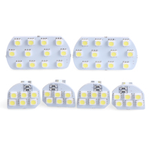 6pcs/set Super Bright Led Interior Dome&Map Reading Light Lamp for PEUGEOT 308 3008 408 508 CITROEN C5(China)