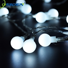 strip lights Wedding Decoration rgb LED String Lighting Holiday 110V/220V EU US 10M 100LEDs LED Ball indoor outdoor decoration(China)