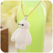 2015 hot sale big hero 6 baymax keychain Environmentally Vinyl Pendant Keychains for bag/car/phone charm gift