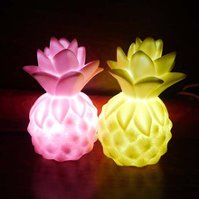 Kids Light-up Toys Creative Mini LED Pineapple Shape Night Light  Bedside Lamp 4 Color Children Cute Night Lamp Bedside Lamp
