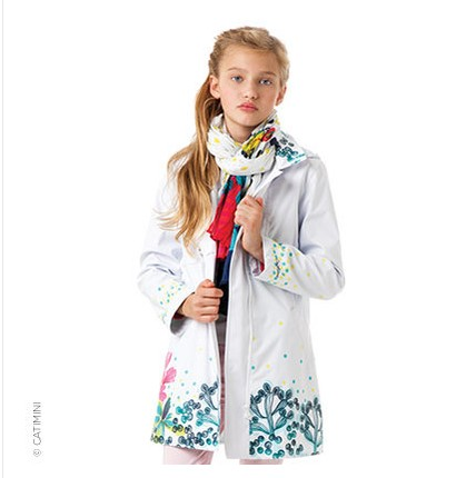 2017 Autumn Spring Girls Dust Coat Pure Color Cardigan Jackets for Girls Jackets Kids Winter Hooded Trench Coat Childre 1<br>