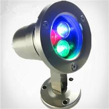 3W LED Underwater Lights Adjustable Spotlight Stainless Steel Fountain Pool Lamps Colorful RGB Park Outdoor Landscapet Lighting