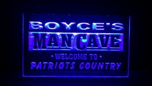 boyce's man cave welcome to pataiots country Name Personalized Custom Home Bar Beer Mug LED Neon Sign(China)