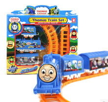 2017 sell like hot cakes Children's Interactive toy train Plastic model Thomas train set Christmas gift 26cm Thomas model