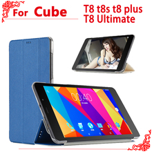 PU Leather Case for 8 Inch CUBE T8 t8s t8 plus T8 Ultimate tablet pc, High-quality case for cube Free Young X5 cover
