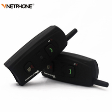 Vnetphone V2-1200 Motorcycle Intercom Bluetooth Helmet Headset 1200M 2 Riders Communication BT Interphone Wireless Headphone