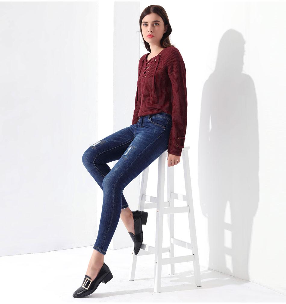 Women's Pullover Long Sleeve KnittedSweater 38