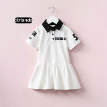 summer children clothes toddler girl cotton polo dresses fashion brand one-pieces casual baby golf style girls mini dress child