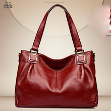 Bolsos Mujer Designer Genuine Leather Women Handbag High Quality Luxury Ladies Boston Bag Red Shoulder Crossbody Hand Bags BLUE