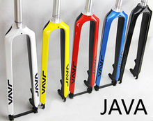 Hot!! Java ultra-light carbon fork 26 27.5 29 all tyre size support disc mountain bike Road bicycles fork carbon fiber hard fork