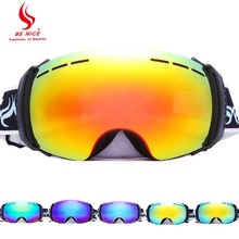 Anti-fog Mirror Factory Ski Goggles Snow Glasses Multi Color UV400 skiing Eyewear Large Spherical Outdoor Snowboard Double-layer