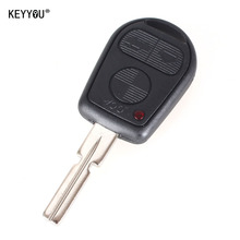 KEYYOU 3 Button Uncut Blade Car Key Replacement Remote Key Case Shell for BMW E31 E32 E34 E36 E38 E39 E46 Z3 Fob Uncut key case