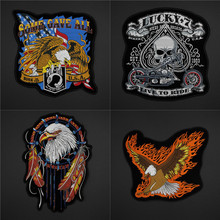 Wholesale Motorcycle Racing Patches Back Patches For Jackets Harley Patch Motorcycle Jacket Patches LSHB377(China)