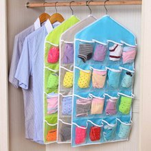 Storage Bag Thick New Multifunction Door Wall Hanging  Clear Socks Cosmetic Underwear  Closet Organizer Bag Wholesale