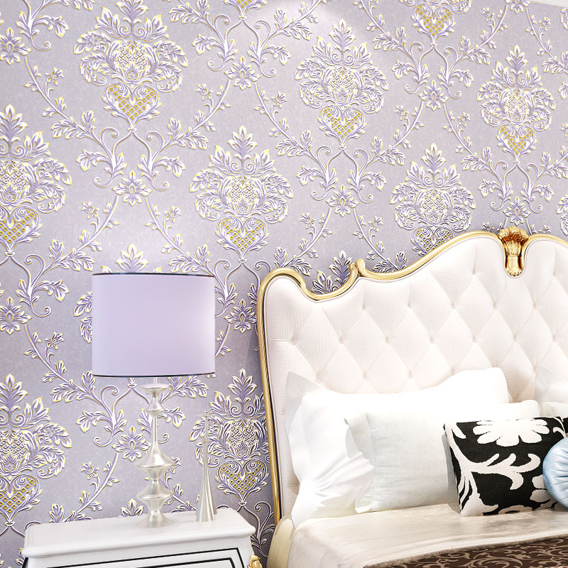 European Style 3d Damask Wallpaper for Bedroom Sofa Background 3d Wall paper 3d Wallcoverings<br>