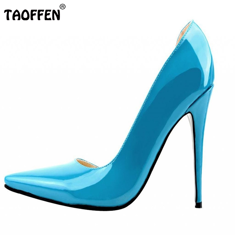 Stiletto Women Pumps Sexy Pointed Toe High Heels Shoes Woman Brand New Design Lady Wedding Party Shoes Footwear Size 35-46 B237<br><br>Aliexpress