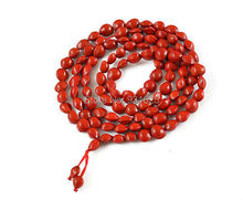 Charming Romantic Ormosia Link Red Beads Bracelet 8mm Heart Beads 108 pieces lucky Bracelets buddha bangles Free Shipping