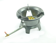 Natural gas only bigh fire stove cast iron hotel restaurant LNG cooking cooktop for sale