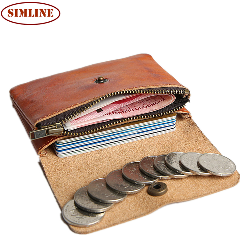 Brand Vintage Handmade 100% Genuine Cow Leather Cowhide Men Women Short Mini Small Wallet Wallets Coin Purse Card Holder For Man<br><br>Aliexpress