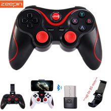 Zeepin T3 Smart Phone Game Controller Wireless Joystick Bluetooth 3.0 Android Gamepad Gaming Remote Control for PC Phone Tablet(China)