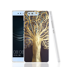 00162 gold beautiful tree of life cell phone Cover Case for huawei Ascend P7 P8 P9 lite Maimang G8