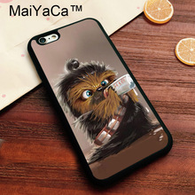 MaiYaCa Chewbacca Baby Funny Star Wars Soft TPU Cover for Apple iPhone 8 Coque Case for iPhone8 Luxury Painting Back Shell(China)