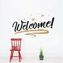 Welcome Quote Wall Stickers Decorative Removable Vinyl Wall Diy Wall Decals Home Decor Art Mural For Office/ Store/ Shop 3(China)