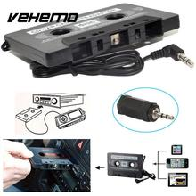 Vehemo Audio Adapter Tape Cassette Adapter Converter Black AUX 3.5MM Jack Classic Car Audio Cell Phone MP3 Music Adapter(China)