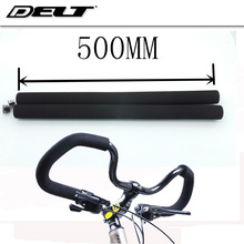 1pair Bicycle Bike cycling Grips Butterfly bend Handlebar Shock-absorbing Matte Soft Foam Sponge Grips Rubber 50cm Brown Black(China)