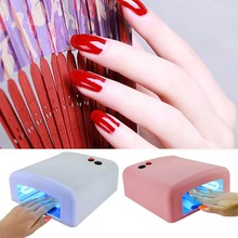 36W Nail Dryer Red Diamond Shape LED UV CCFL Light Gel Curing Lamps 2017 New Popular Drying Gel Polish Nail Tools