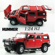 Free Shipping 50% Discount 1:24 Advanced alloy car models,Super SUV,Diecasts Metal Hummer H2 Toy Vehicles,Collections Cars