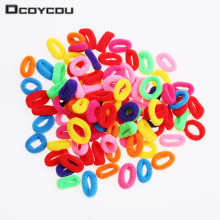 200 Pcs Colorful Child Kids Hair Holders Cute Rubber Hair Band Elastics Accessories Girl Women Charms Tie Gum(China)