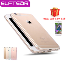 Free Soft Film Protector+Transparent Clear Soft Silica TPU Case for iPhone 6 6 Plus 7 7 plus Ultra Thin Silicone Phone Cover