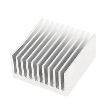 Silver Tone Aluminum Cooler Radiator Heat Sink Heatsink 40x40x20mm(China)
