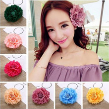 Hat accessories flower beach skirt beach resort flower flower head flower simulation big peony hair clip