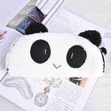 New 1pcs Cute Cartoon Kawaii Panda Plush Pencil Case Lovely Pen bags Stationery School Supplies for Kids Gift(China)