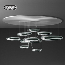 DSQ,Modern brief classic design mercury plated ABS ball ceiling light diameter 600/800/1100mm(China)