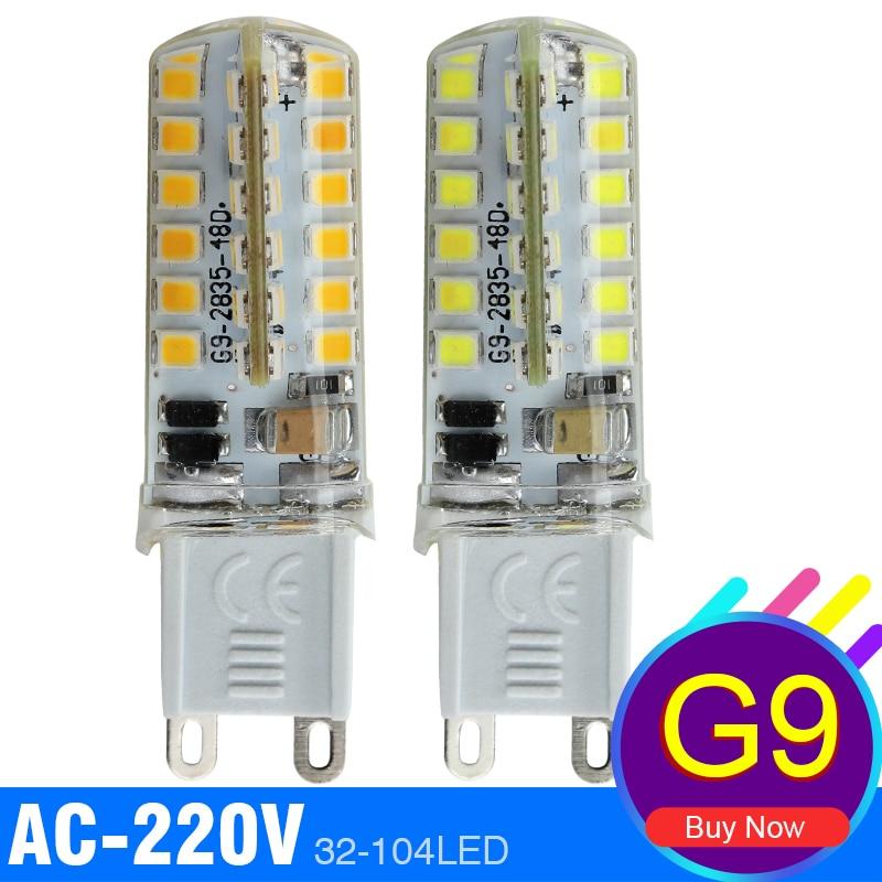 G9 Led Lamp Light AC 220V 4W 6W 7W 9W 10W Bombillas 3014 SMD 2835 Corn Bulb Crystal Halogen Silicone Spotlight For Chandelier <br><br>Aliexpress