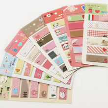 3PCS Kawaii Unique Scrapbooking Animal Romantic Memo Pad Sticker Bookmark Tab Flags Memo Book Marker Sticky Notes